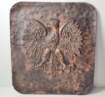 Antik nagyméretű címersasos falidísz/dombormű