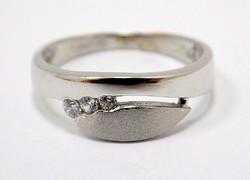 Fehér arany köves gyűrű (ZAL-Au96465)
