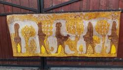 Retro mokett Gyönyörű selyem  falvédő  falikárpit faliszőnyeg  Gyűjtői darab