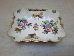 Herendi Viktória mintás porcelán négyzet alakú tál