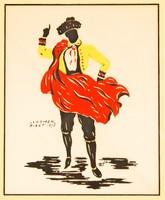 """Rola: """"Carmen"""" Bizet, 1875 - színes litográfia, keretezve"""
