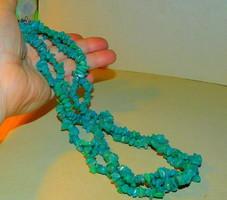 Jade ásvány köves 2 Soros Dupla Nyaklánc