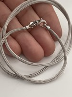Gyönyörű  ezüst nyakék 55cm