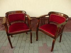 Antik szecessziós karosszék /íróasztal szék pár eladó restaurált, nagyon stabil, gyönyörű állapotban