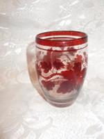 19 századi  bieder üveg pohár
