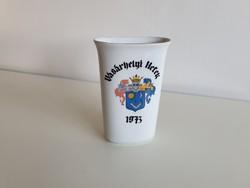 Régi retro Alföldi porcelán emlék Vásárhelyi Hetek 1973