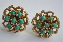 Türkiz kövekkel arany Franz Breuning fülbevaló
