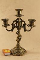 Antik réz barokk női figurális gyertyatartó 513