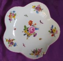 Antik meisseni virágmintás - porcelán tálka - Sérült! - 14 cm.
