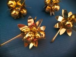 Retro arany fóliás karácsonyfadíszek