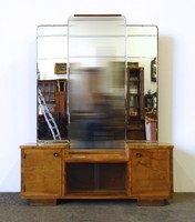 1D457 Régi art deco pipere tükör 174 x 132 cm