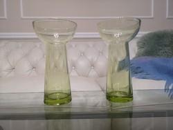 Különleges sárgás zöld kristály kelyhek 2 db, 20 cm