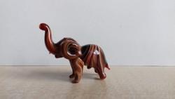 Muránói csíkos üveg elefánt figura