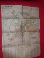 Antik 1941 térkép Szeged kir. város belterülete Szegfű Sándor munkája a képek szerint