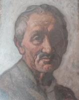 GÁBOR MÓRIC: Idős férfi portréja, olaj (Székely Bertalan és Színyei Merse Pál tanítványa) arckép