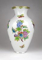 1C747 Régi hibátlan Viktória mintás Herendi porcelán váza 23.5 cm