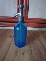 Fél literes kék szódásüveg Koncz Aladár Pesterzsébet