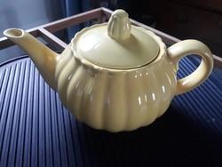 Kispesti Gránit sárga art deco gránit teás kanna, design torteneti darab, ikonikus design tárgy