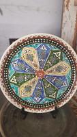 Kerámia fali tányér - német nepművészeti -