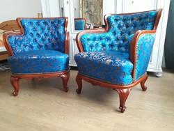 Gyönyörű Bécsi barokk fotelek teljesen felújítva
