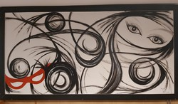 2m széles Igéző szemek cìmű festmény eladó!