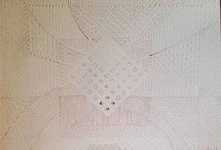 Gyarmathy Tihamér 43 x 61 cm filctoll, papír 1975-ből, keretezve