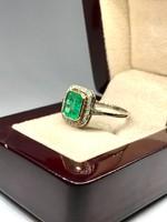 Smaragd Gyűrű Gyémánttal