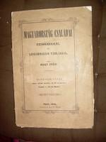 1858. Nagy Iván: Magyarország családai czimerekkel és leszármazási táblákkal 3. kötet