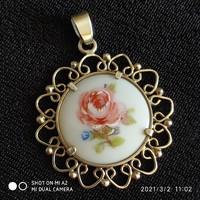 Ezüst porcelán medál