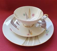 Bareuther Bavaria porcelán reggeliző szett 3 részes (csésze, csészealj, kistányér)
