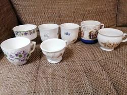 Antik gyűjtői csészék szép állapotban! 600 Ft/ db