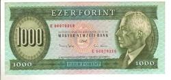 "1000 forint 1993 ""E"" 1. hajtatlan"