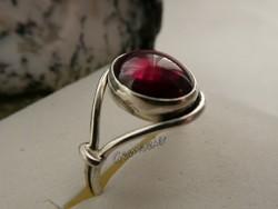 Valódi Gránát 925 Ezüst Gyűrű 54-es