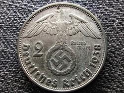 Németország Horogkeresztes .625 ezüst 2 birodalmi márka 1938 B (id44984)