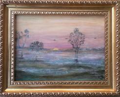 Reggel 30x40-es kép kedvező árral, Károlyfi Zsófia Prima díjas alkotó műve.