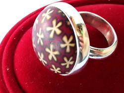 Nagy méretű ezüst gyűrű
