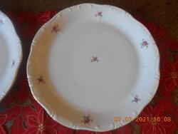 Zsolnay virág mintás süteményes tál