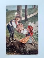 Régi húsvéti képeslap J. Mukařovského levelezőlap