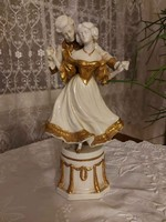 Antik barokk meseszép német porcelán figurapáros! 30cm!!!