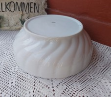 Vastag fehér cseh  czechoslovakia porcelán tál Csavart Gyöngyös mintával Pogácsás tál paraszttál 14