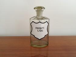 Régi patikai dugós üveg nagy patikaüveg gyógyszertári dugós palack