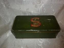 Antik singer fémdoboz varrógép doboz