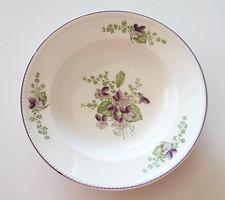 Régi ibolyás porcelán falitányér akasztható tányér 23 cm