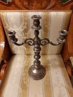 Antik Bécsi ezüst 3 ágú gyertyatartó! 640 Gr.