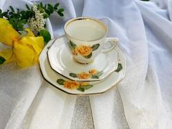 Sárga  rózsás reggeliző szett