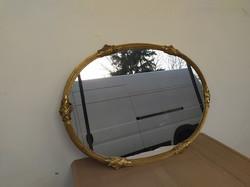 Antik nagy réz elegáns ovális tükör