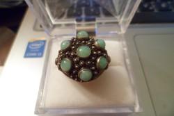 Ezüst gyűrű / jade