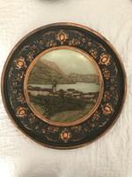 2 db Johann Maresch 19.sz.  Historizáló majolika falitálak