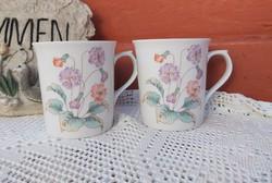 Ritka Alföldi porcelán virágos bögre  bögrék Gyűjtői  nosztalgia darab