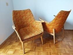 1968-as retro fotel, karosszék, kagylófotel mid-century pár